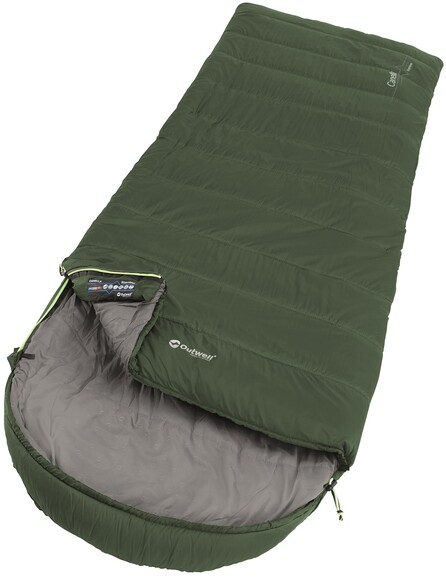 Outwell Canella Supreme/-1°C Forest Green Left Спальные мешки
