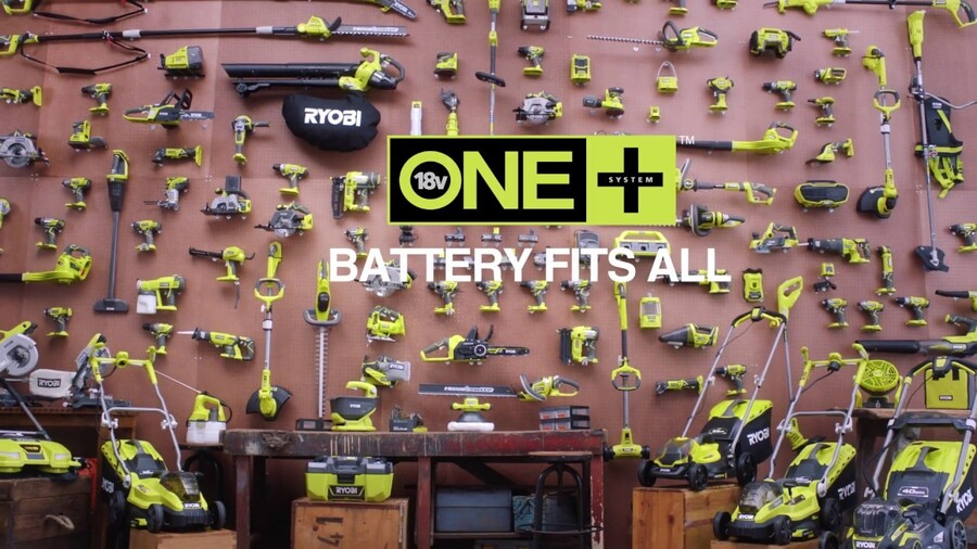 Ryobi's ONE+ System. One Battery. Over 100 Tools. For the Home & Garden.
